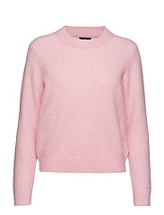 O1. WOOLEN HAIRY CREW - CALIFORNIA PINK