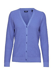 O2. TEXTURED CARDIGAN - PERIWINKLE BLUE