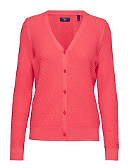O2. TEXTURED CARDIGAN - WATERMELON RED