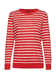 D1. BRETON STRIPE CREW - BLOOD ORANGE