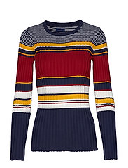 D1. RIB KNITTED CREW - MULTICOLOR