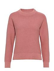 D1. TEXTURED COTTON CREW - ASH ROSE