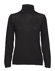 FINE MERINO TURTLE NECK - BLACK