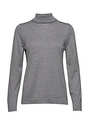FINE MERINO TURTLE NECK - GREY MELANGE