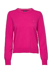 SUPERFINE LAMBSWOOL CREW - RICH PINK