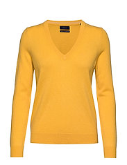 SUPERFINE LAMBSWOOL V-NECK - IVY GOLD