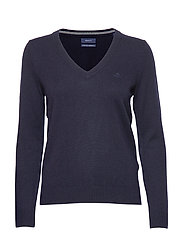 SUPERFINE LAMBSWOOL V-NECK - MARINE