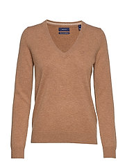 SUPERFINE LAMBSWOOL V-NECK - OCHRE