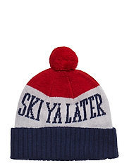 O1. SKI YA LATER KNIT HAT - BRIGHT RED