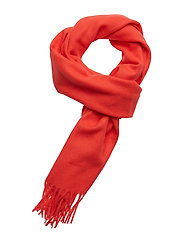 SOLID LAMBSWOOL WOVEN SCARF - ATOMIC ORANGE
