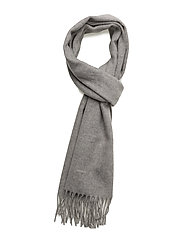 SOLID LAMBSWOOL WOVEN SCARF - LIGHT GREY MELANGE