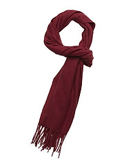 SOLID LAMBSWOOL WOVEN SCARF - WINTER WINE