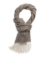O2. HERRINGBONE SCARF - DESERT BROWN