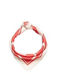 D1. G SILK SCARF - WATERMELON RED