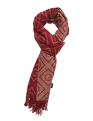 D1. G WOOL SCARF - MAHOGNY RED