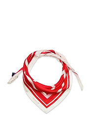 D1. LARGE G SILK SCARF - BRIGHT RED