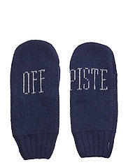 O1. OFF PISTE KNIT MITTENS - PERSIAN BLUE