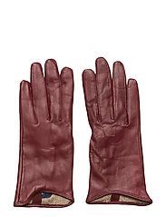 D1. LEATHER GLOVES - PORT RED