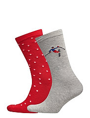 O1. APRÈS SKI SOCKS GIFT BOX - BRIGHT RED