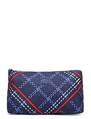 D1. SIGNATURE WEAVE WASH BAG - CRISP BLUE