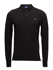 THE ORIGINAL PIQUE  LS RUGGER - BLACK