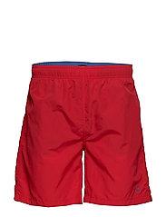 BASIC SWIM SHORTS LONG CUT - BRIGHT RED