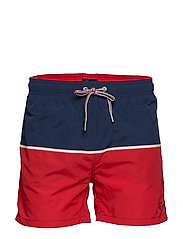 CUT AND SEWN SWIM SHORTS C.F - BRIGHT RED