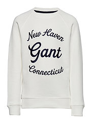 D1. GANT SCRIPT C-NECK SWEAT - EGGSHELL