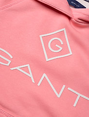 GANT - D1. LOCK UP STRIPE HOODIE DRESS - robes - strawberry pink - 4