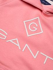 GANT - D1. LOCK UP STRIPE HOODIE DRESS - kleider - strawberry pink - 4