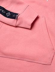 GANT - D1. LOCK UP STRIPE HOODIE DRESS - kleider - strawberry pink - 5