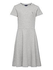 D1. ORIGINAL JERSEY DRESS - LIGHT GREY MELANGE