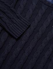 GANT - COTTON CABLE CREW - knitwear - evening blue - 2