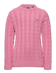 COTTON CABLE CREW - SEA PINK