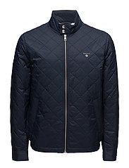 O1. THE QUILTED WINDCHEATER - NAVY