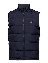 O1. THE PANEL DOWN VEST - EVENING BLUE