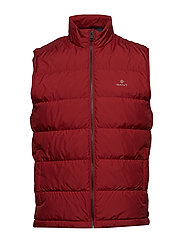 O1. THE PANEL DOWN VEST - MAHOGNY RED