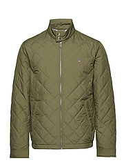 O1. THE QUILTED WINDCHEATER - DEEP LICHEN GREEN