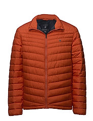 O1. THE AIRLIGHT DOWN JACKET - BURNT OCHRE