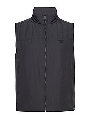 O2. THE PADDED VEST - CHARCOAL MELANGE