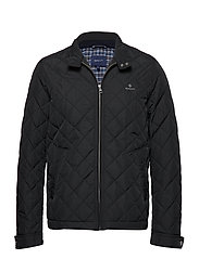 D1. THE QUILTED WINDCHEATER - BLACK