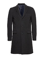 D1. THE CLASSIC WOOL COAT - ANTRACIT MELANGE