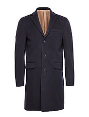 D1. THE CLASSIC WOOL COAT - MARINE