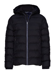 Michael Michael Kors Hooded Long Packable Down Puffer Jacket Coat Quilted Black