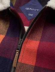 GANT - D2. WOOL CHECK FLIGHT JACKET - wool jackets - port red - 2