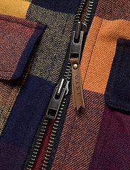 GANT - D2. WOOL CHECK FLIGHT JACKET - wool jackets - port red - 4