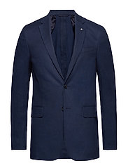 O2. THE STRETCH LINEN SUIT JACKET - MARINE