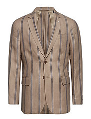 O1. THE IVY STRIPE BLAZER - PUTTY