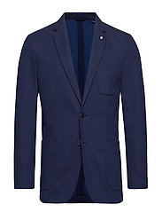 O1. THE COTTON PIQUE SUIT JKT - MARINE