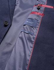 GANT - D2. SLIM MOLESKIN BLAZER - single breasted blazers - evening blue - 3